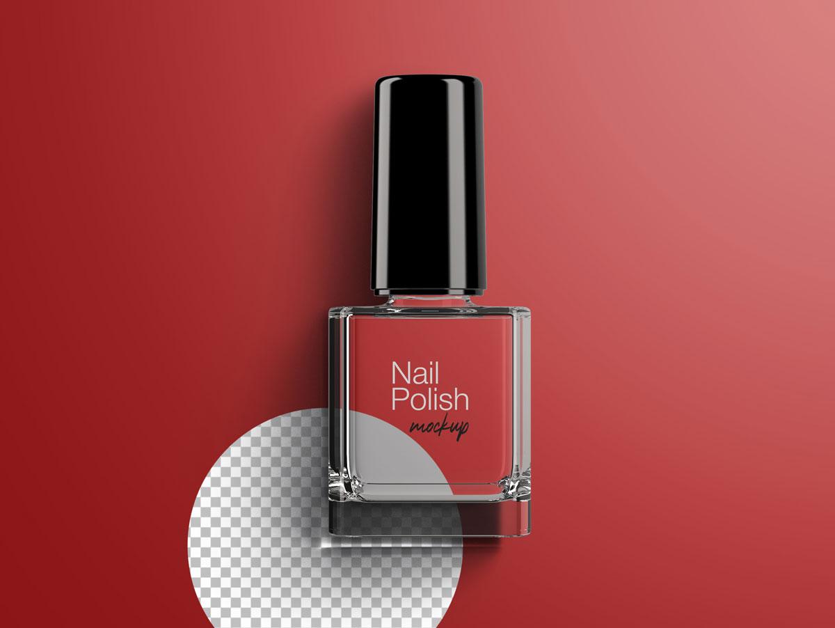 8款指甲油玻璃包装瓶设计展示样机模板 Nail Polish Bottle Mockup Pack插图(7)