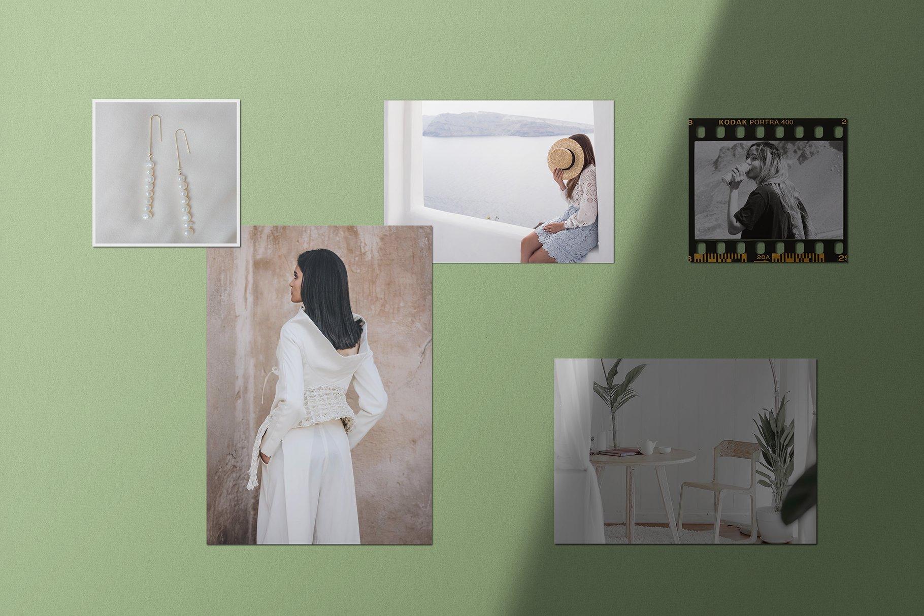 优雅剪贴相片情绪版卡片拼贴设计智能贴图展示样机 Moodboard Mockup Kit插图(3)