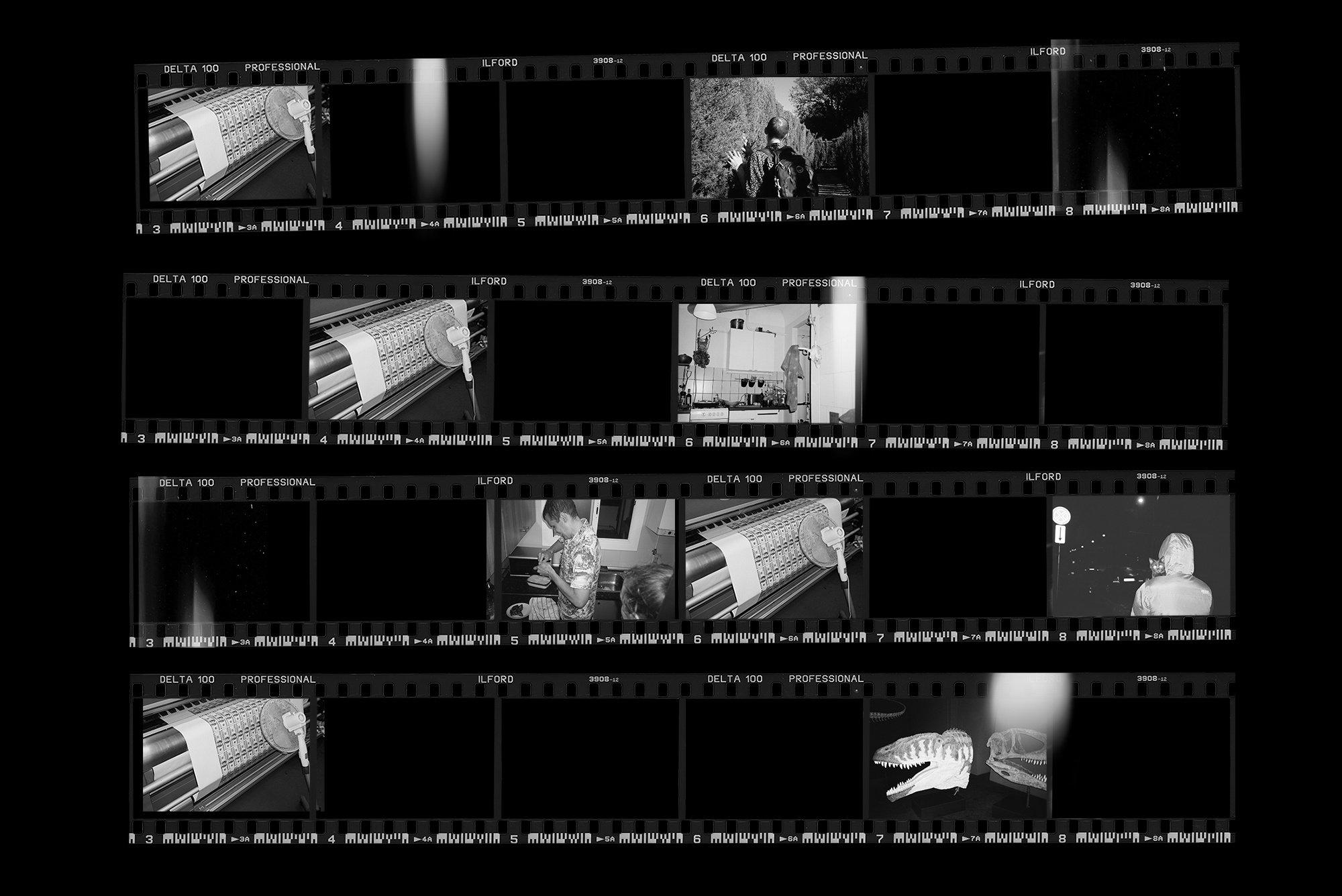 [淘宝购买] 潮流老式胶片胶卷边框图层叠加样机PS设计素材 Contact Sheet Film Roll Mockup插图(2)