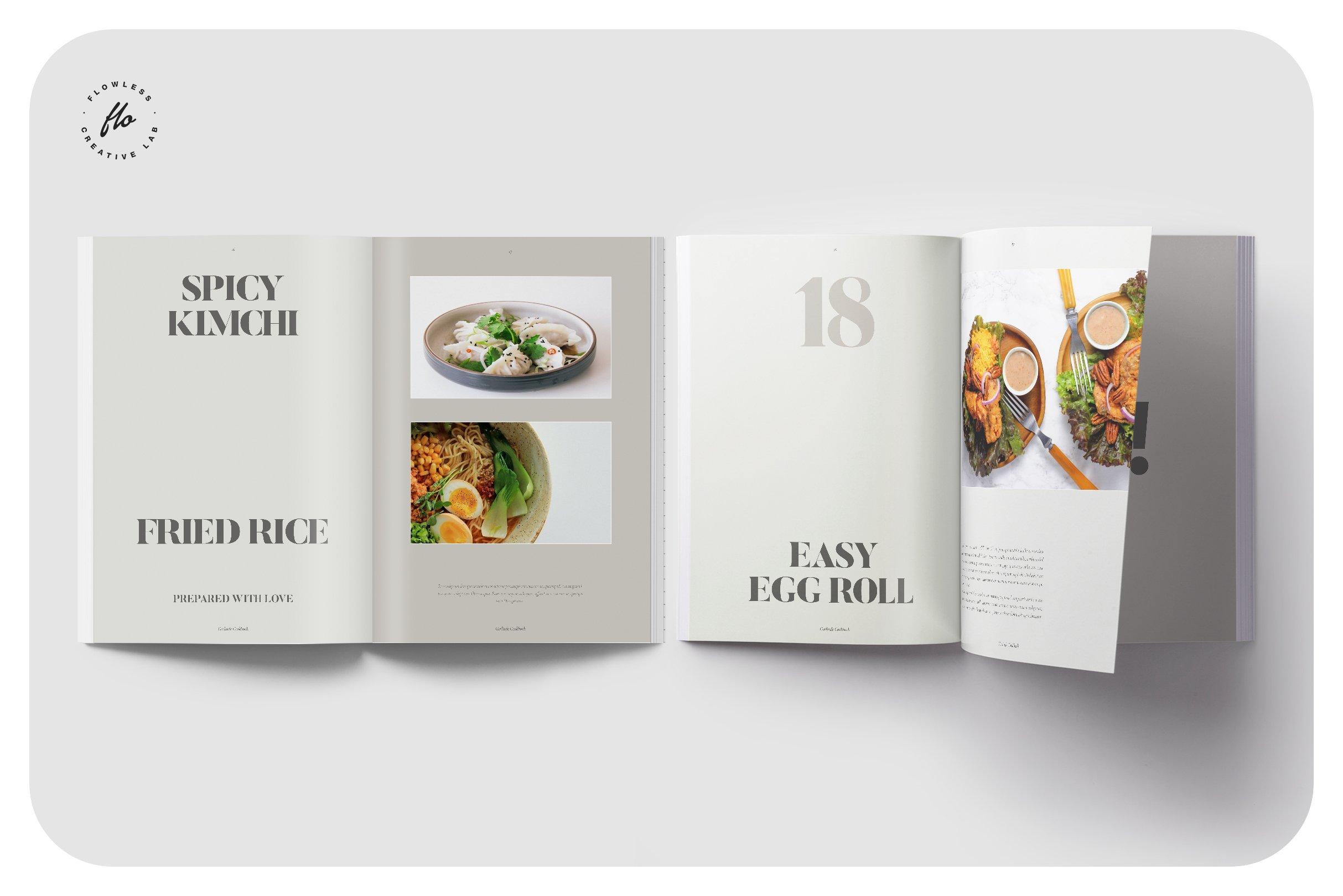 美食食谱菜单设计INDD画册模板 GERLIND Food Recipe Cookbook插图(3)