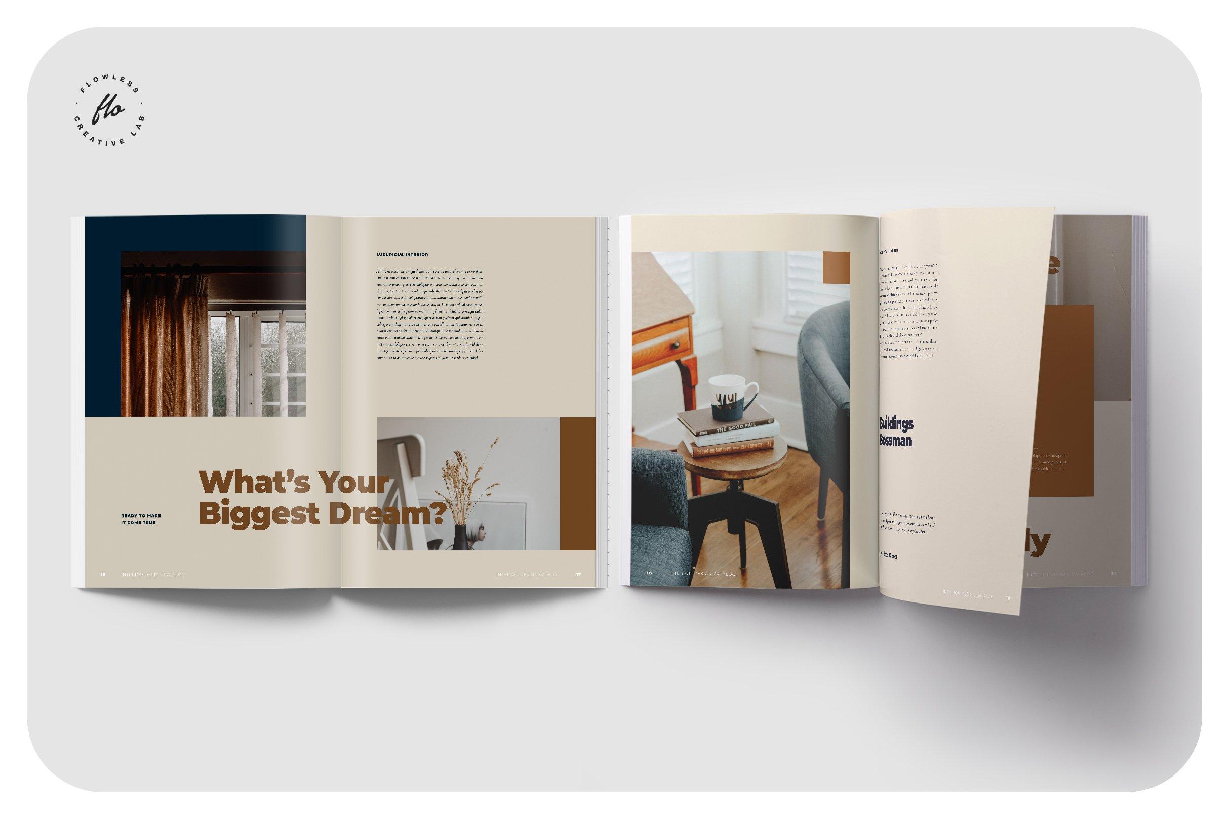 室内设计摄影作品集目录INDD画册模板 CALLEN Interior Design Catalog插图(3)