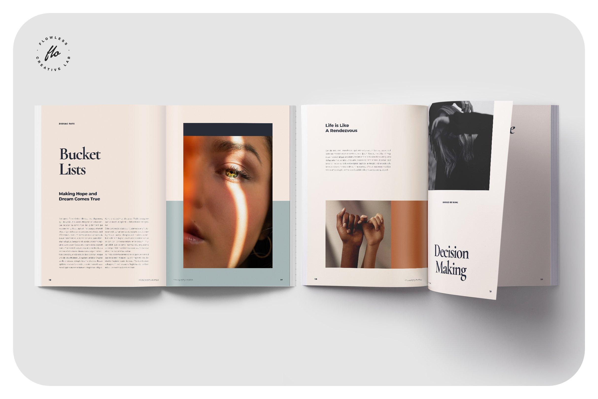 现代优雅摄影作品集图文排版设计INDD画册模板 BALLARD Photography Portfolio插图(3)