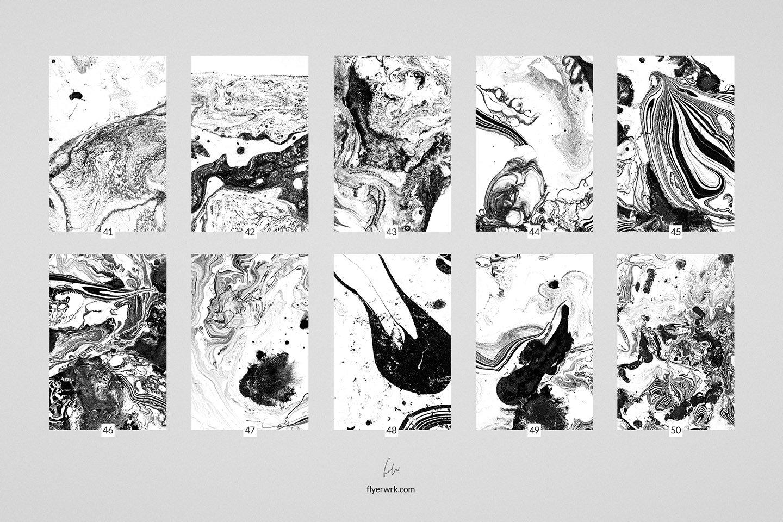 50款高清抽象大理石液体海报设计底纹背景图片素材 Marmor – 50 Abstract Marble textures插图(3)