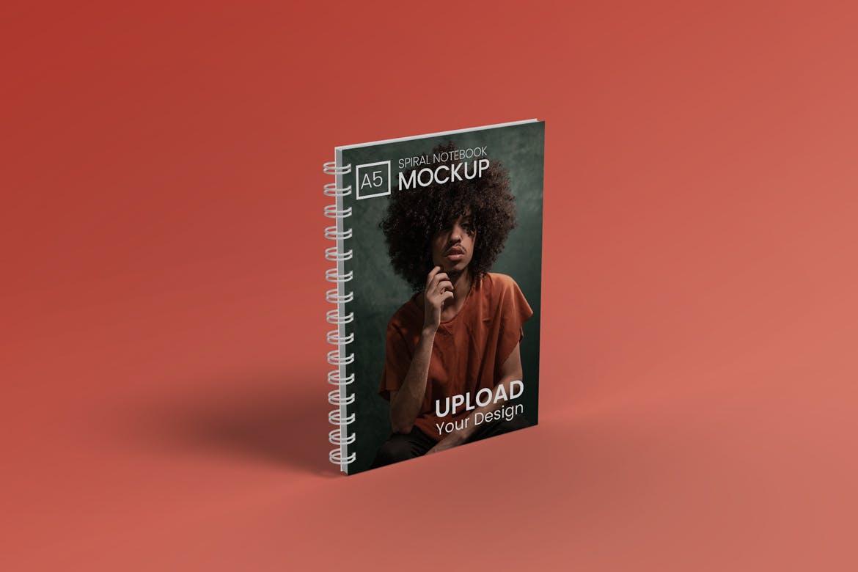 A5螺旋笔记本设计贴图样机模板 A5 Spiral Notebook Mockup插图(3)