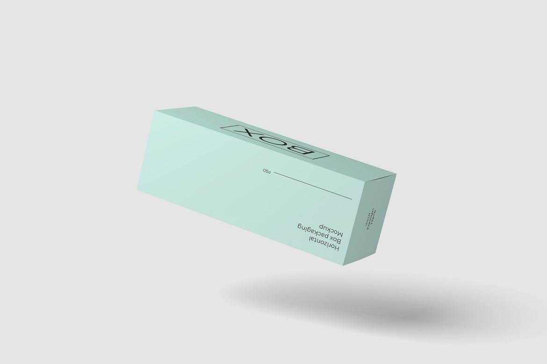长矩形产品包装纸盒设计展示贴图样机模板 Package Box Mockup插图(3)