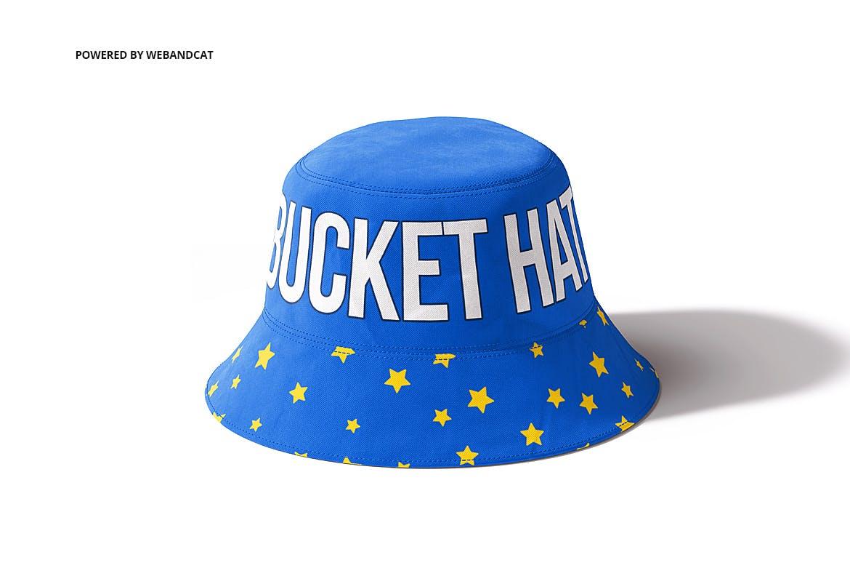 4款渔夫帽LOGO印花图案设计展示样机 Bucket Hat Mockup 2插图(3)