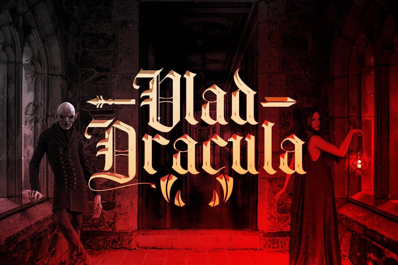 时尚复古哥特风格衬线英文字体素材 Old Charlotte – Bold Decorative Gothic Font插图(3)