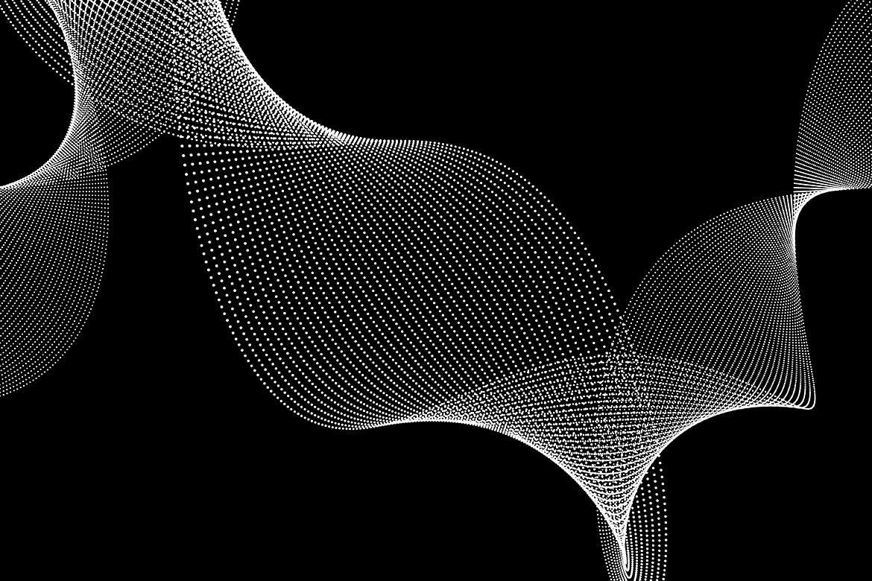 10款抽象虚线波浪漩涡底纹背景PNG免抠图片素材 Abstract Dotted Wavy Swirls Backgrounds插图(3)