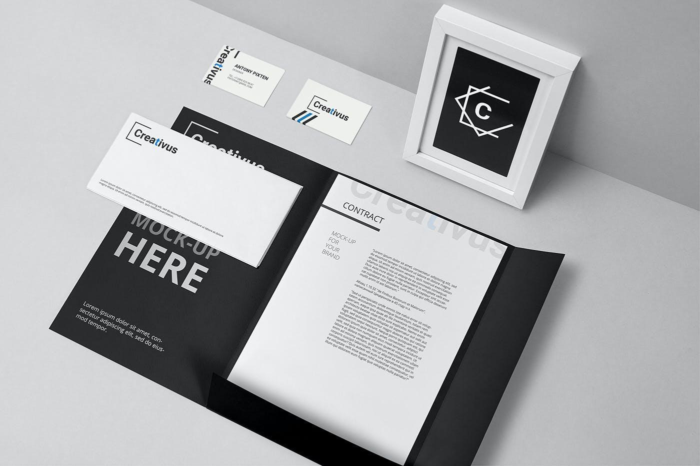 7款品牌LOGO设计办公用品展示贴图样机 Branding Stationery Mockup插图(3)