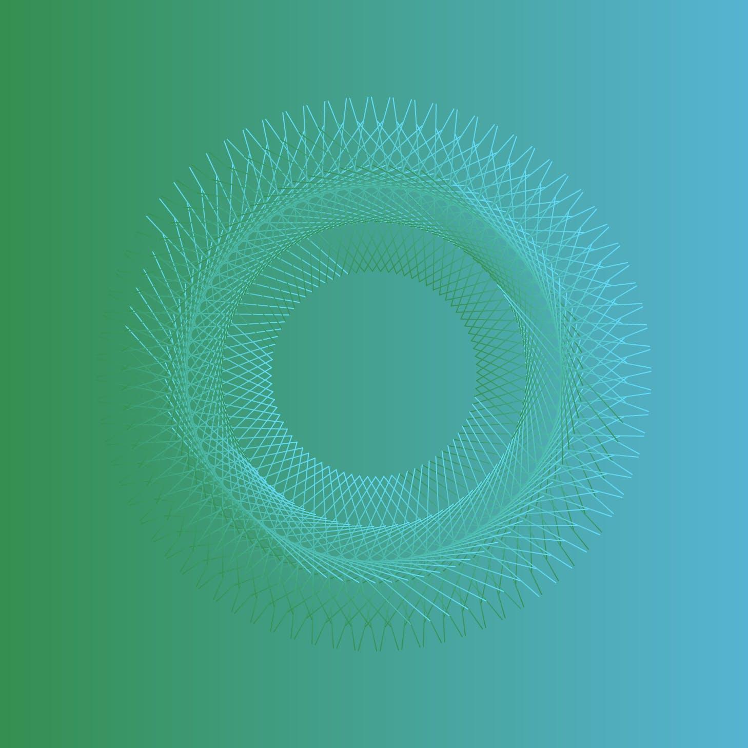 8款螺旋状线条网格矢量图案素材 Geometric Spiral Collection插图(3)