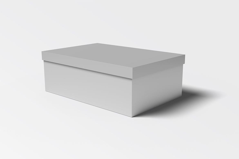极简鞋盒设计展示贴图样机模板 Shoe Box Mockups Vol 01插图(3)