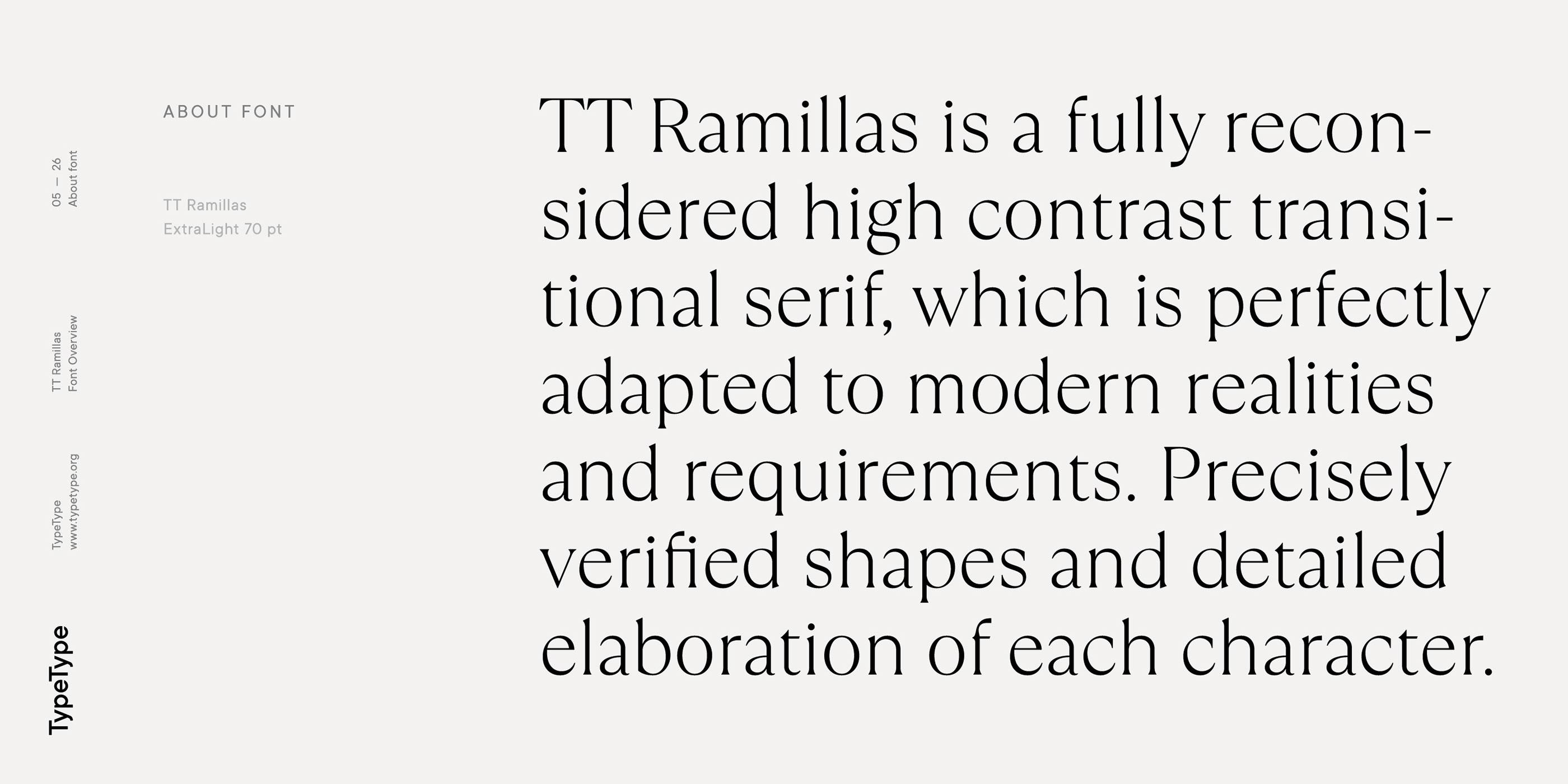 时尚海报标题文字设计衬线英文字体素材 Ramillas Typeface插图(3)