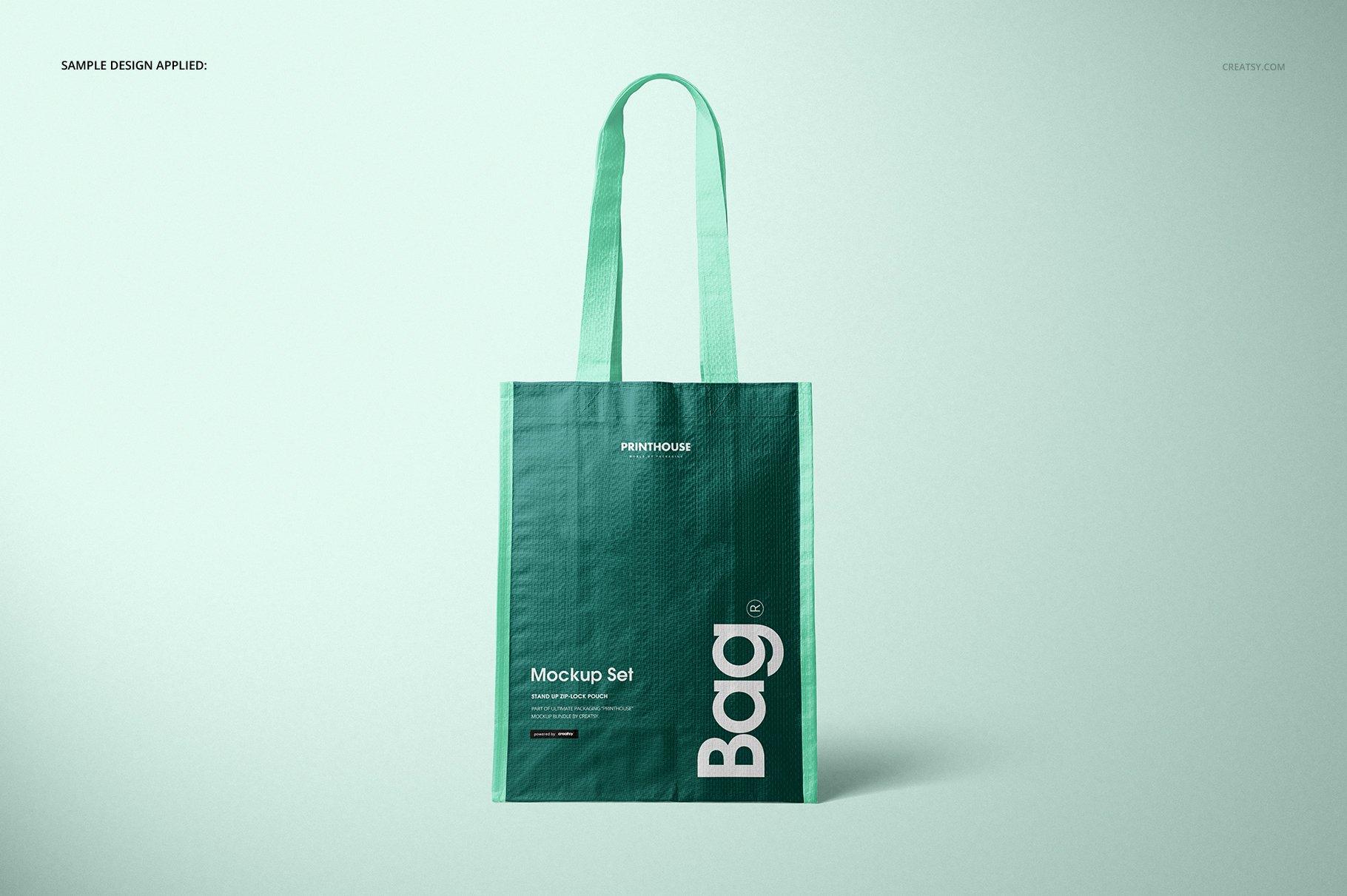 时尚编织手提购物袋设计展示贴图样机模板合集 Woven Tote Bag Mockup Set插图(5)