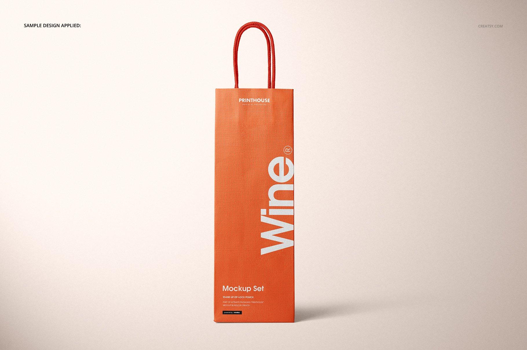 [淘宝购买] 精美葡萄酒手提袋设计展示贴图样机套装 Eurotote Wine Tote Bag Mockup Set插图(5)