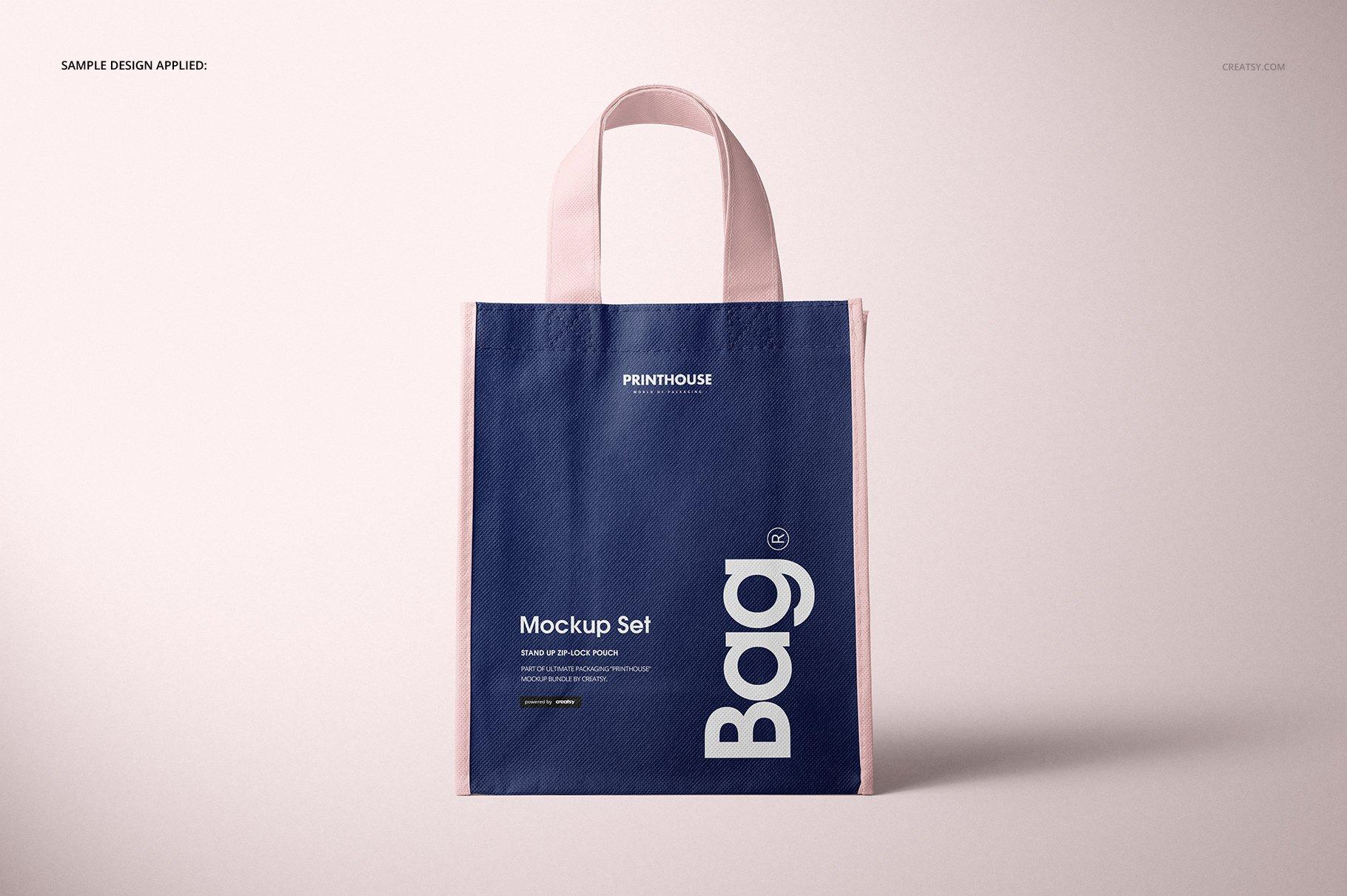 [淘宝购买] 无纺布袋手提袋设计展示样机模板套装 Non-Woven Tote Bag Mockup Set插图(5)