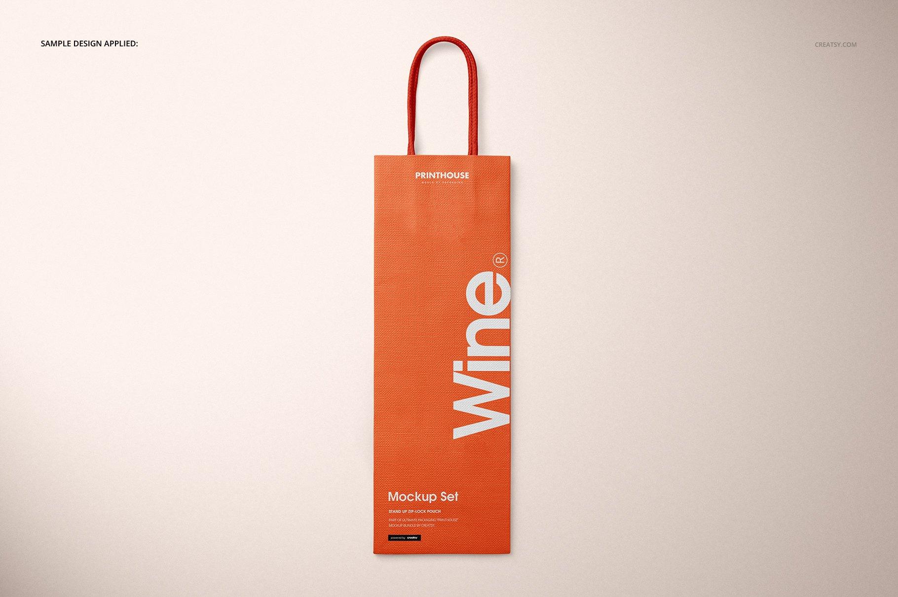 [淘宝购买] 精美葡萄酒手提袋设计展示贴图样机套装 Eurotote Wine Tote Bag Mockup Set插图(6)