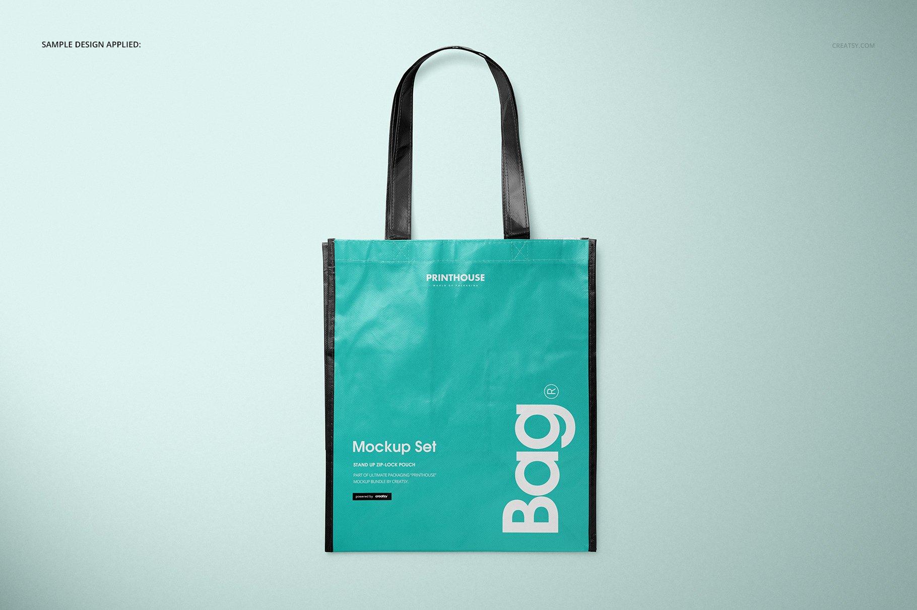 层压无纺布购物手提袋设计贴图样机模板套装 Laminated Non-Woven Bag Mockups 03插图(6)