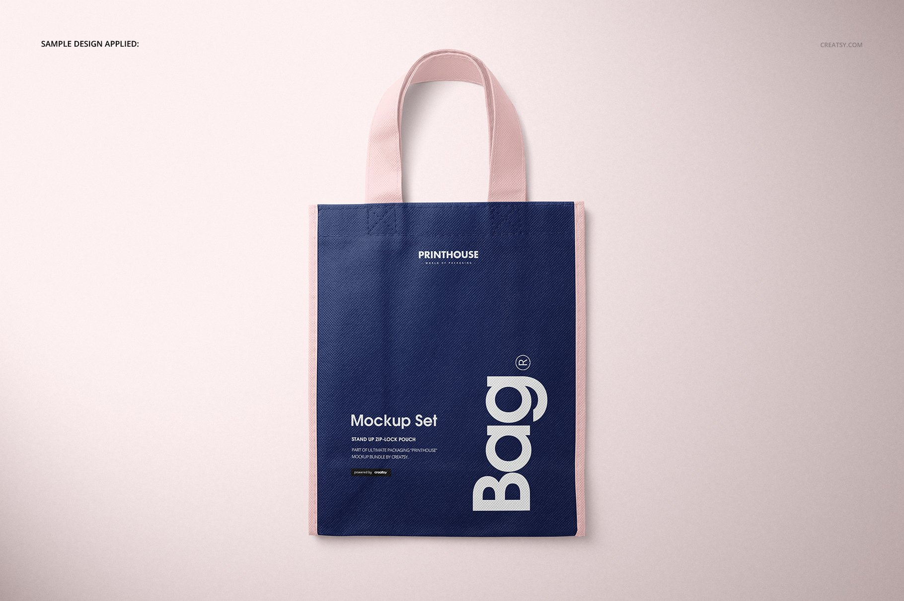 [淘宝购买] 无纺布袋手提袋设计展示样机模板套装 Non-Woven Tote Bag Mockup Set插图(6)
