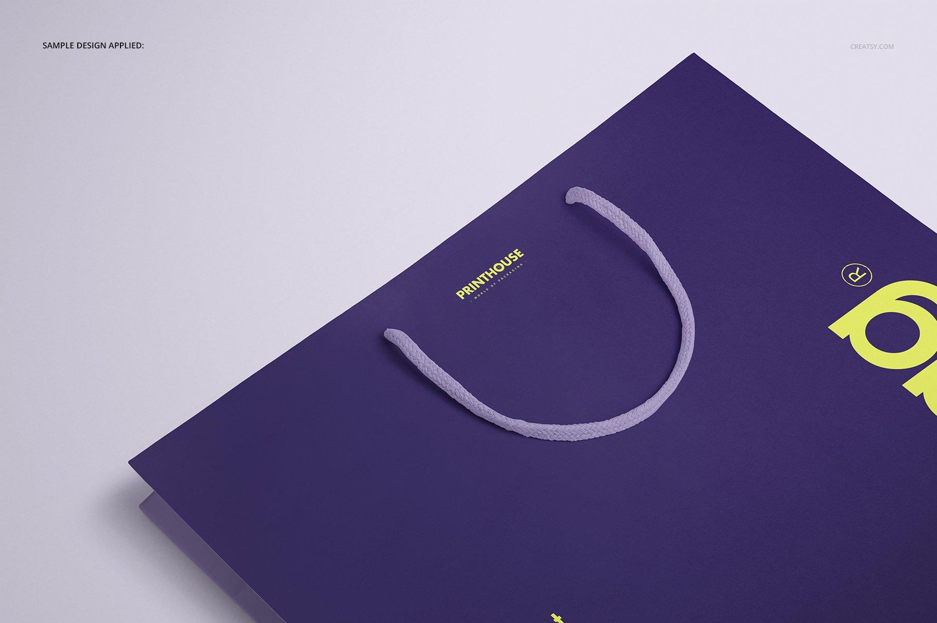 极简购物手提纸袋设计展示贴图样机PS设计素材 Eurotote Bag Mockup Set 1插图(8)