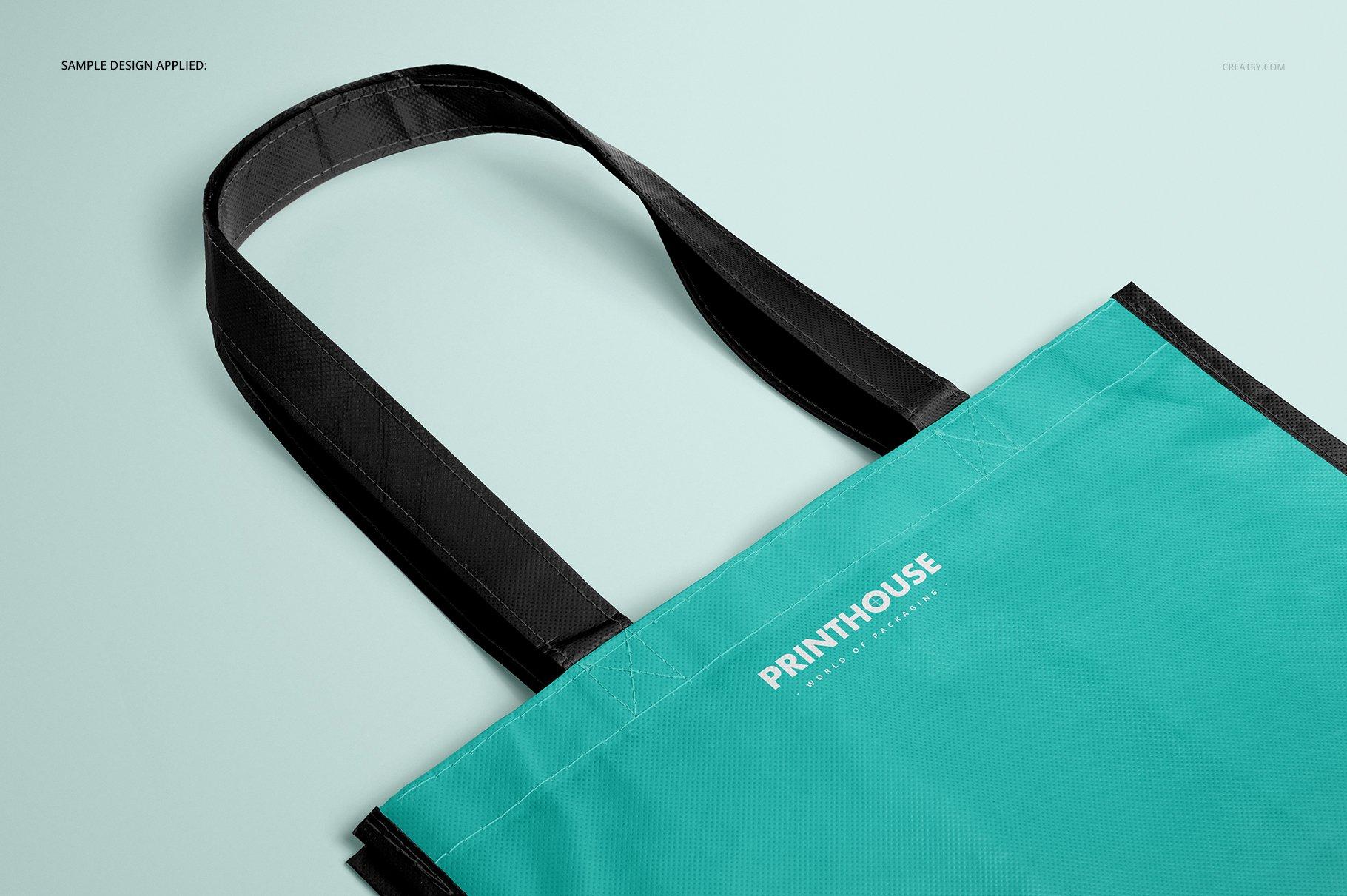 层压无纺布购物手提袋设计贴图样机模板套装 Laminated Non-Woven Bag Mockups 03插图(7)