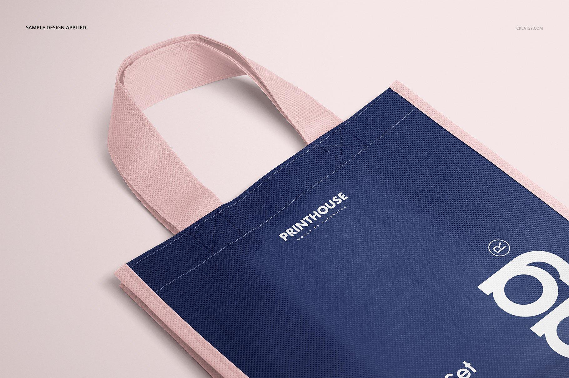 [淘宝购买] 无纺布袋手提袋设计展示样机模板套装 Non-Woven Tote Bag Mockup Set插图(7)