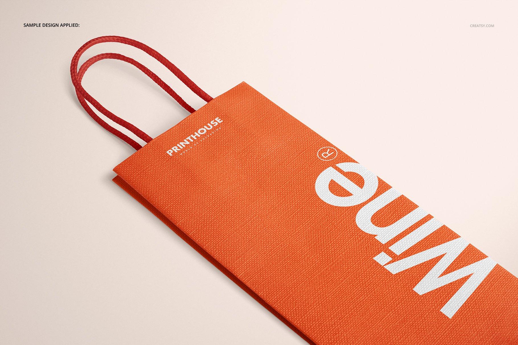 [淘宝购买] 精美葡萄酒手提袋设计展示贴图样机套装 Eurotote Wine Tote Bag Mockup Set插图(8)