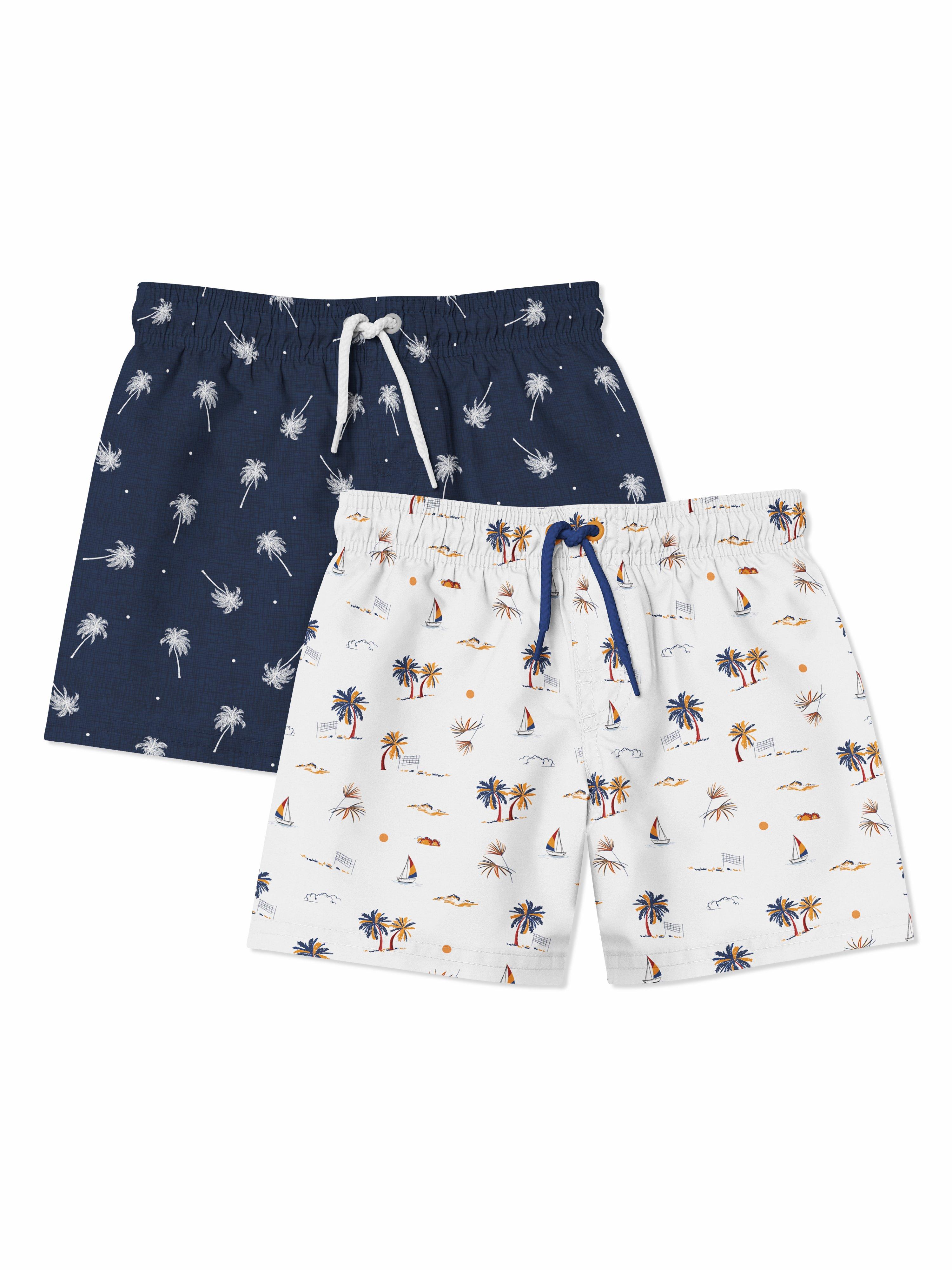 婴儿游泳短裤裤衩印花图案设计展示样机套装 Baby Swimming Shorts Mockups Set插图(4)
