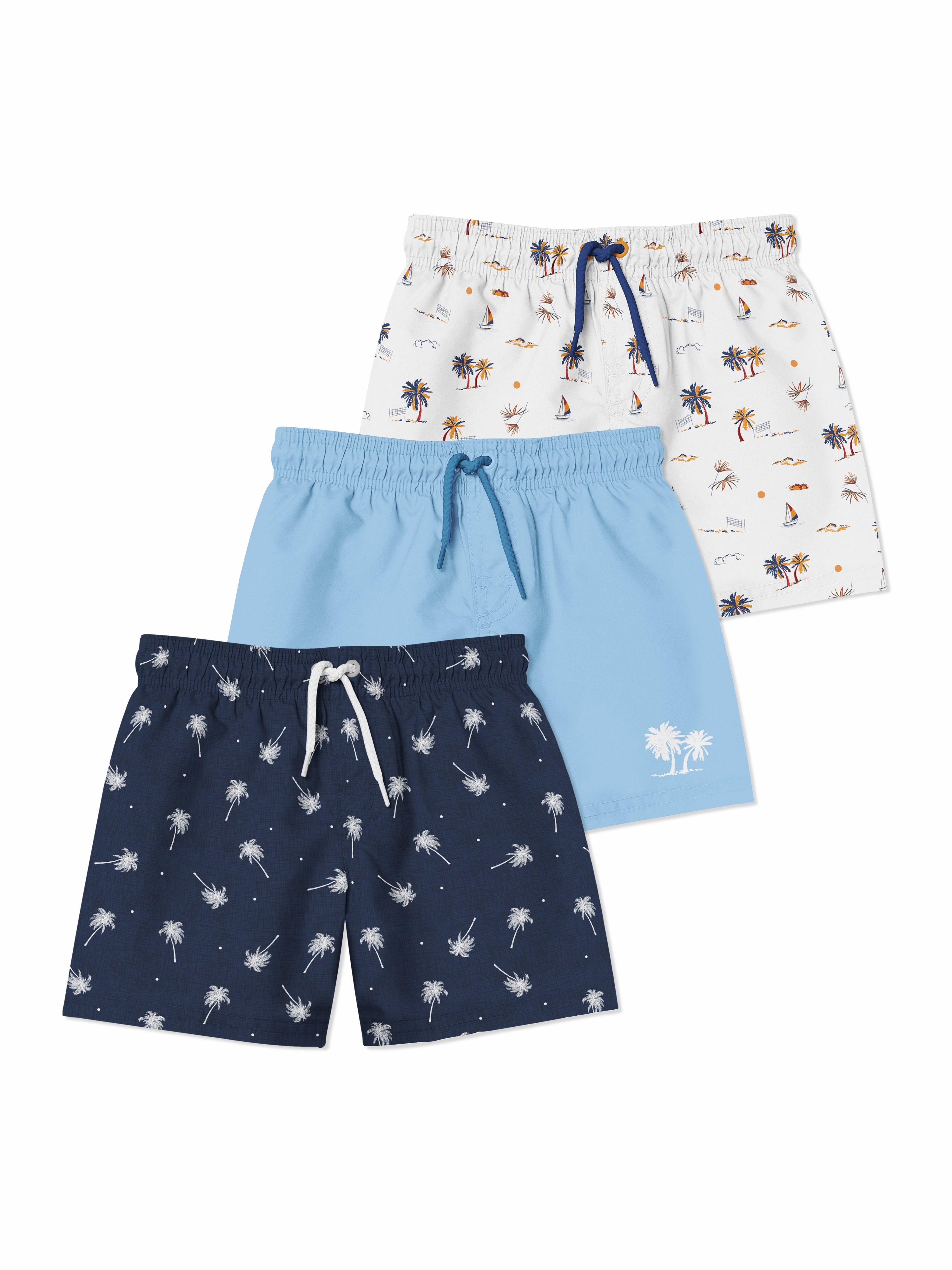 婴儿游泳短裤裤衩印花图案设计展示样机套装 Baby Swimming Shorts Mockups Set插图(6)