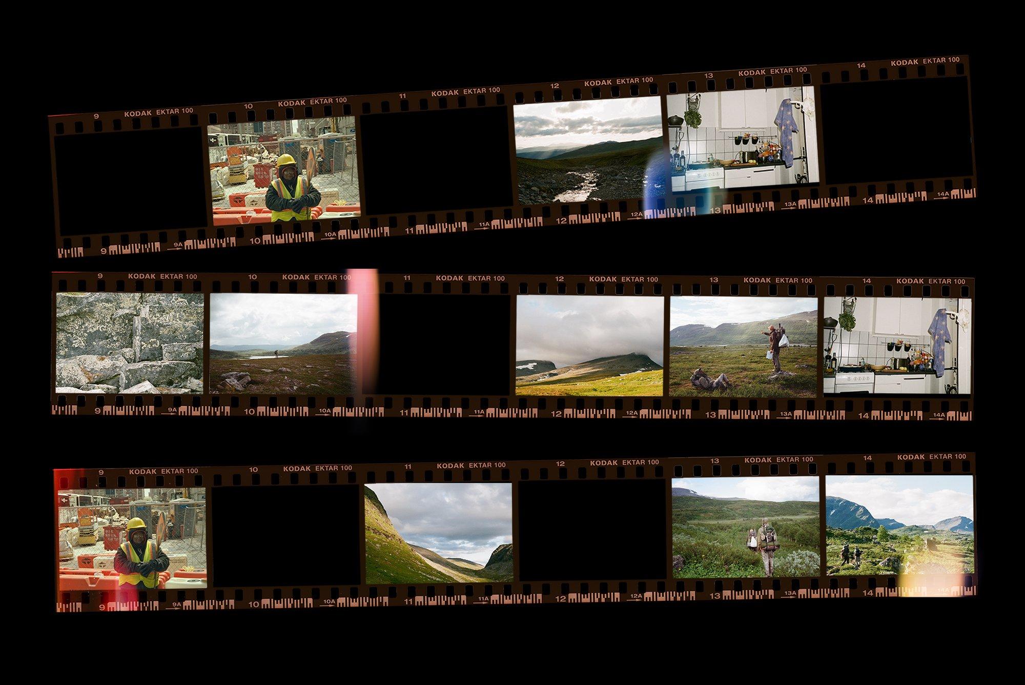 [淘宝购买] 潮流老式胶片胶卷边框图层叠加样机PS设计素材 Contact Sheet Film Roll Mockup插图(3)
