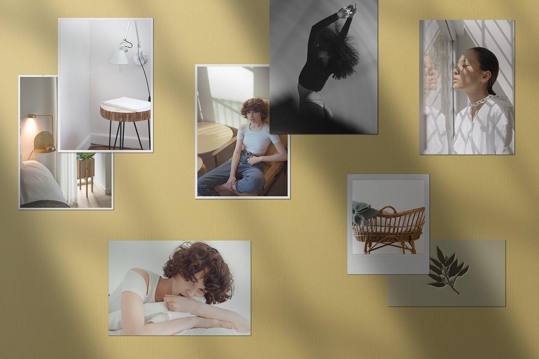 潮流剪贴相片情绪版卡片设计展示样机PSD模板 Moodboard Mockup Kit插图(4)