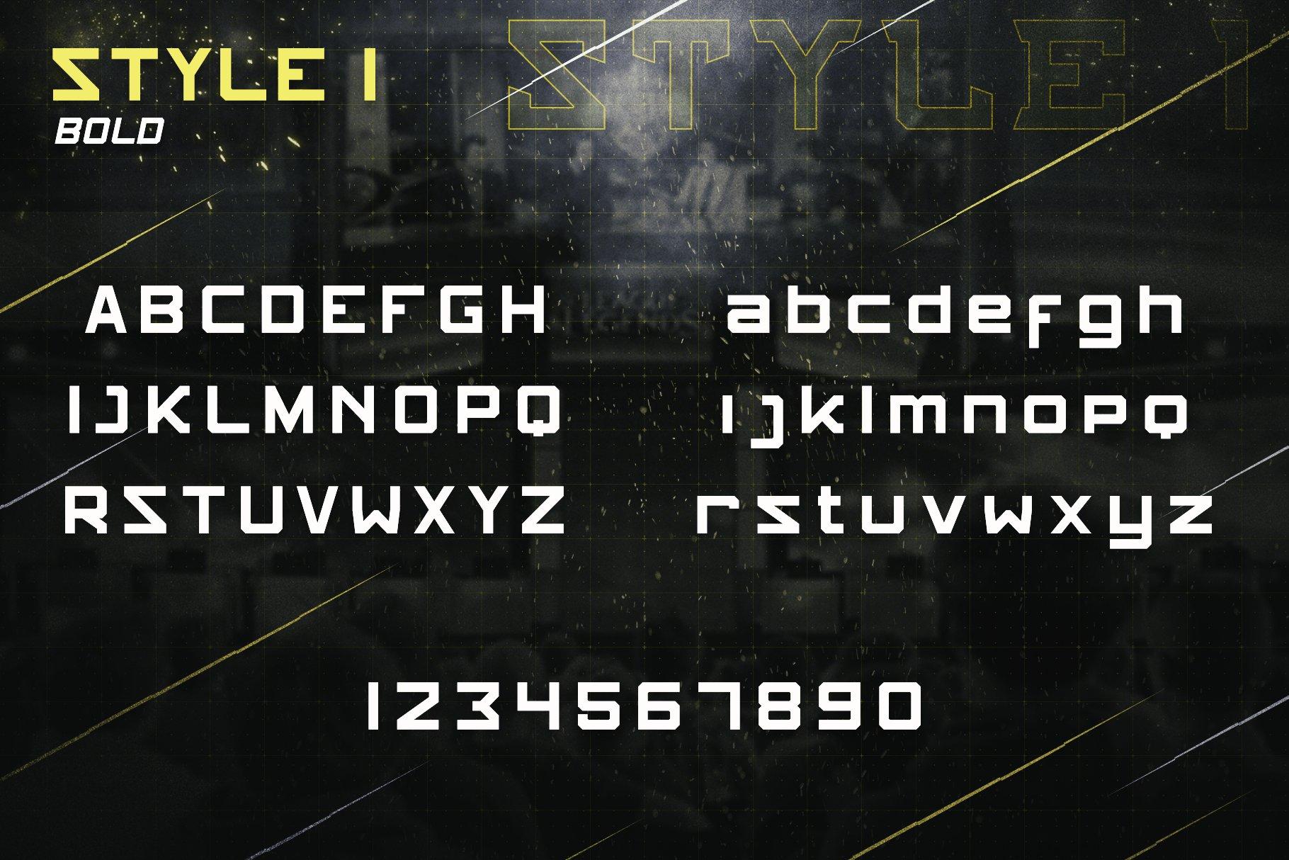 体育电竞行业品牌LOGO海报标题文字设计无衬线英文字体素材 STUNNER – NFC Font Family插图(3)