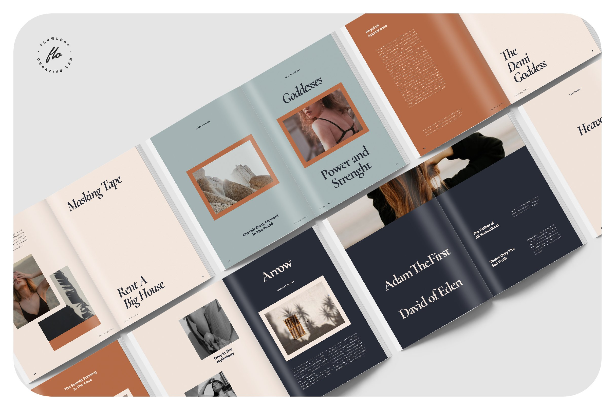 现代优雅摄影作品集图文排版设计INDD画册模板 BALLARD Photography Portfolio插图(4)