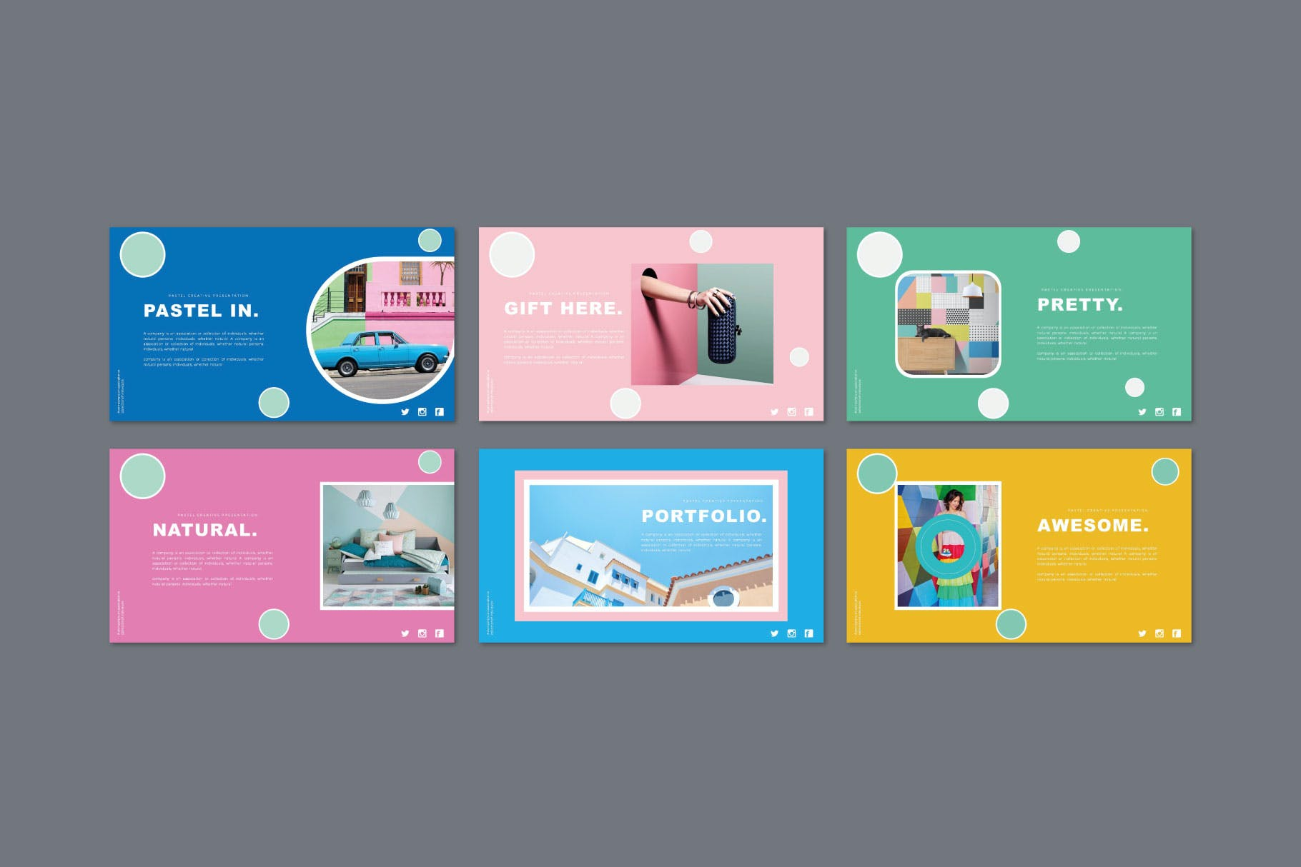 时尚多彩策划案图文排版设计演示文稿模板 Misya – Powerpoint Template插图(4)