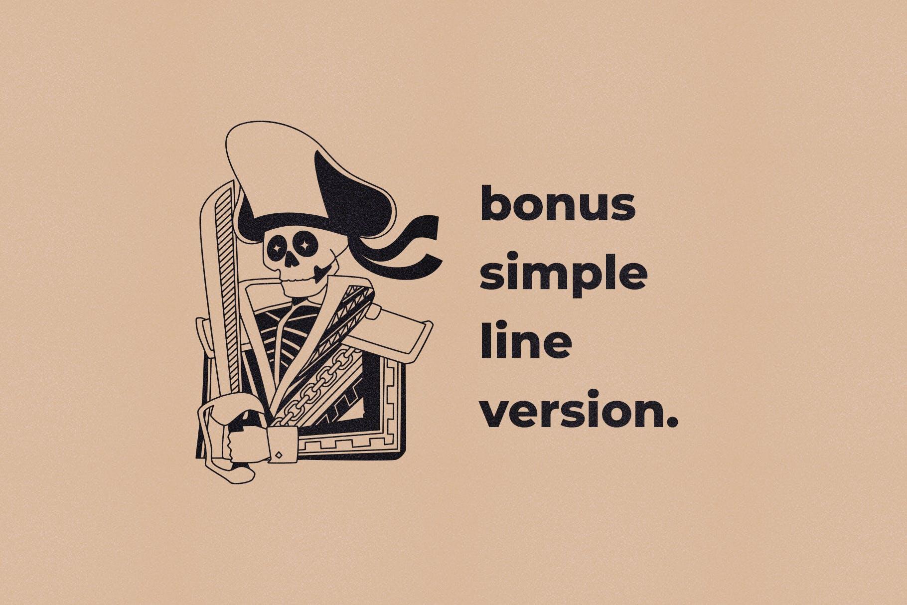 海盗元素徽标LOGO插图设计矢量素材 Illustration & Logo Pack V1插图(4)