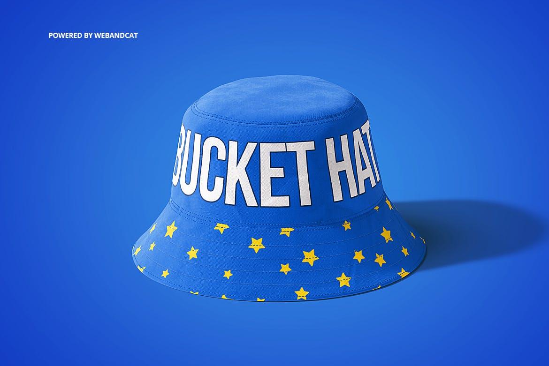 4款渔夫帽LOGO印花图案设计展示样机 Bucket Hat Mockup 2插图(4)