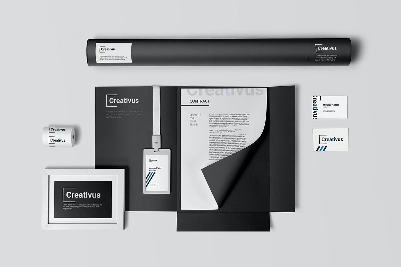 7款品牌LOGO设计办公用品展示贴图样机 Branding Stationery Mockup插图(4)