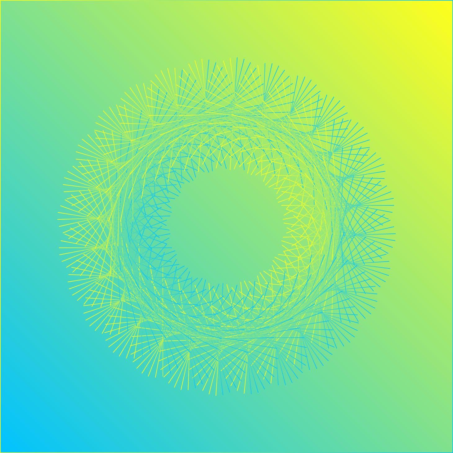 8款螺旋状线条网格矢量图案素材 Geometric Spiral Collection插图(4)