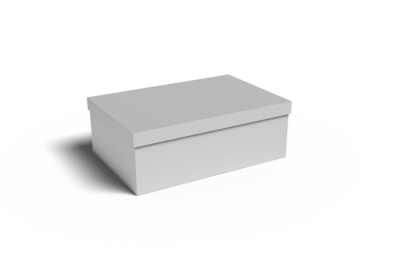 极简鞋盒设计展示贴图样机模板 Shoe Box Mockups Vol 01插图(4)