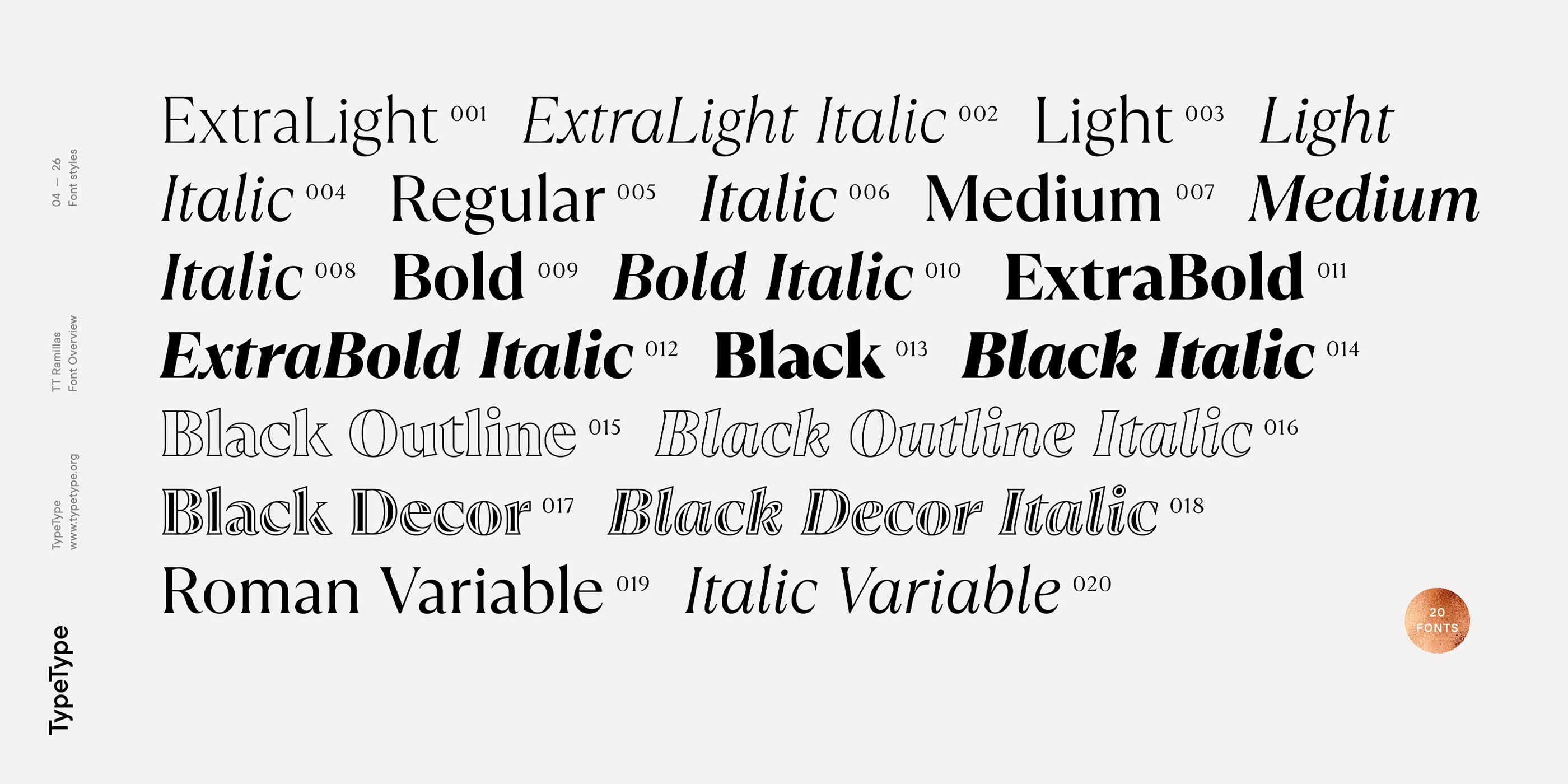 时尚海报标题文字设计衬线英文字体素材 Ramillas Typeface插图(4)