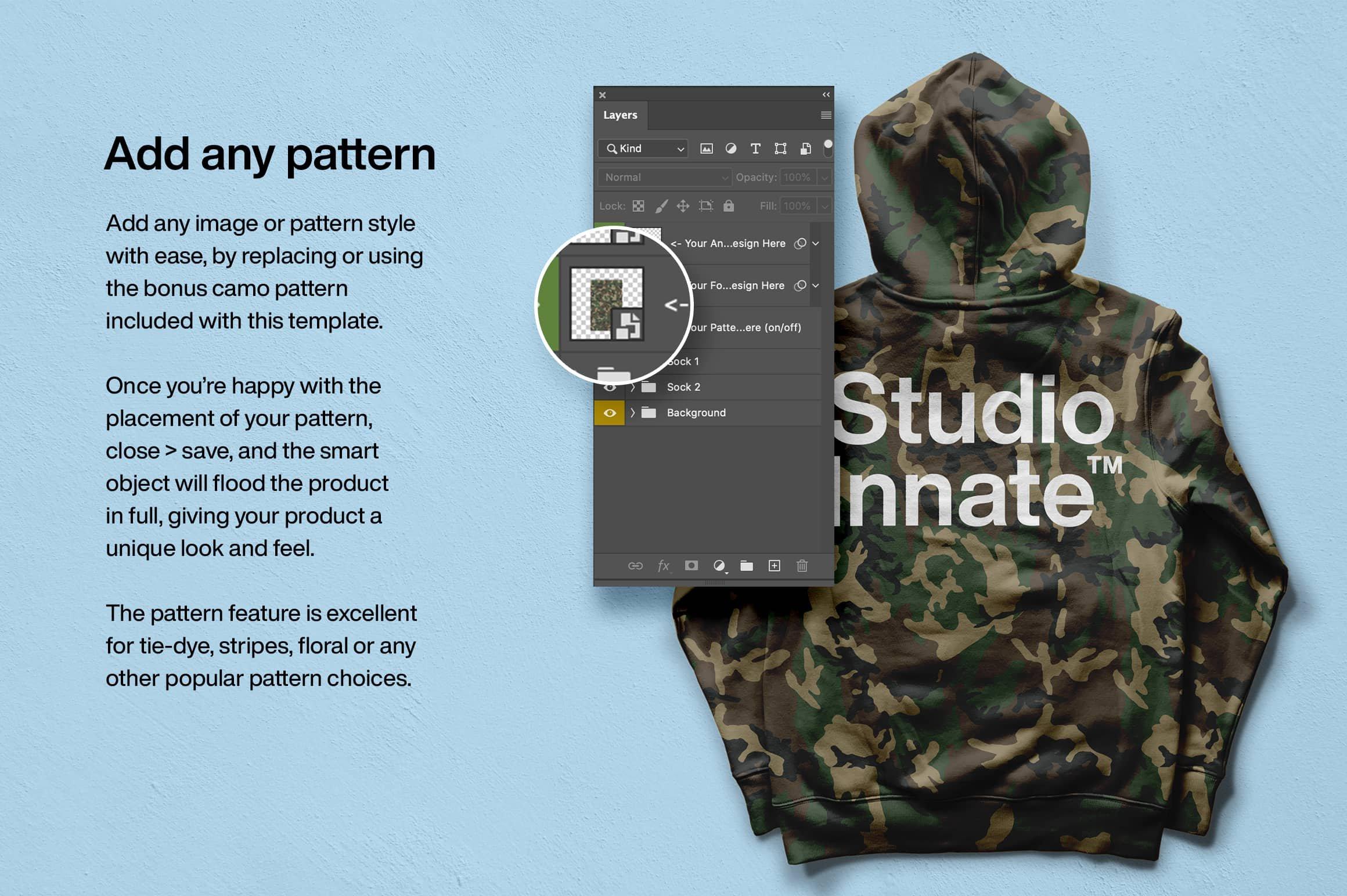 时尚连衣帽卫衣背面设计展示贴图样机模板素材 Hoodie Back Mockup插图(4)