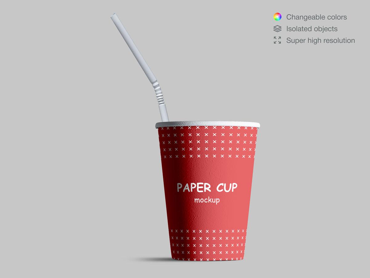 咖啡纸杯包装纸袋设计展示样机模板合集 Takeaway Paper Cups and Coffee Branding Mockup Set插图(4)