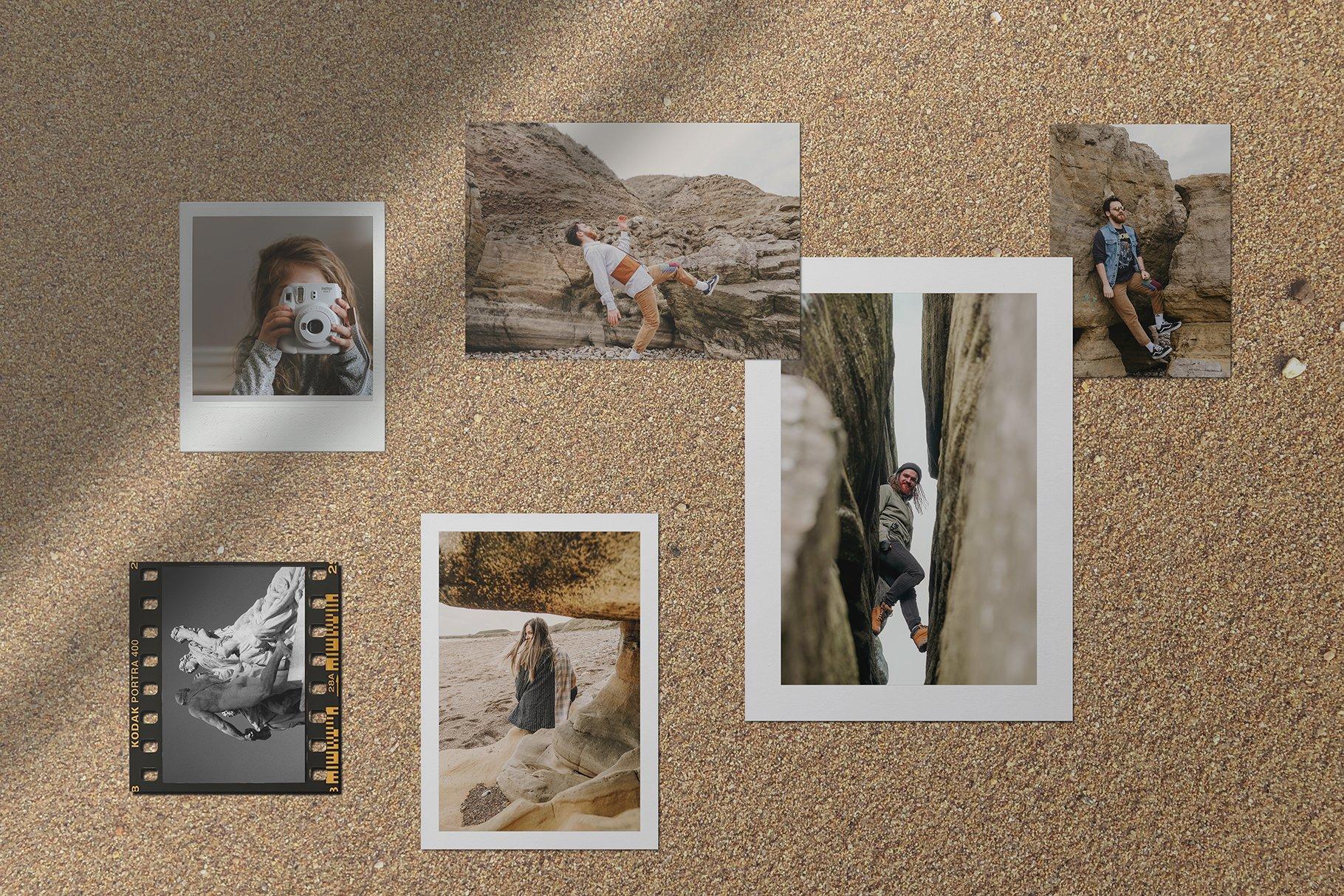 时尚优雅剪贴相片情绪版卡片设计展示智能贴图样机PSD模板 Moodboard Mockup Kit插图(5)