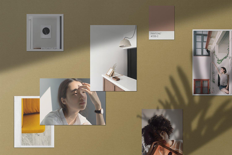 潮流剪贴相片情绪版卡片设计展示样机PSD模板 Moodboard Mockup Kit插图(5)