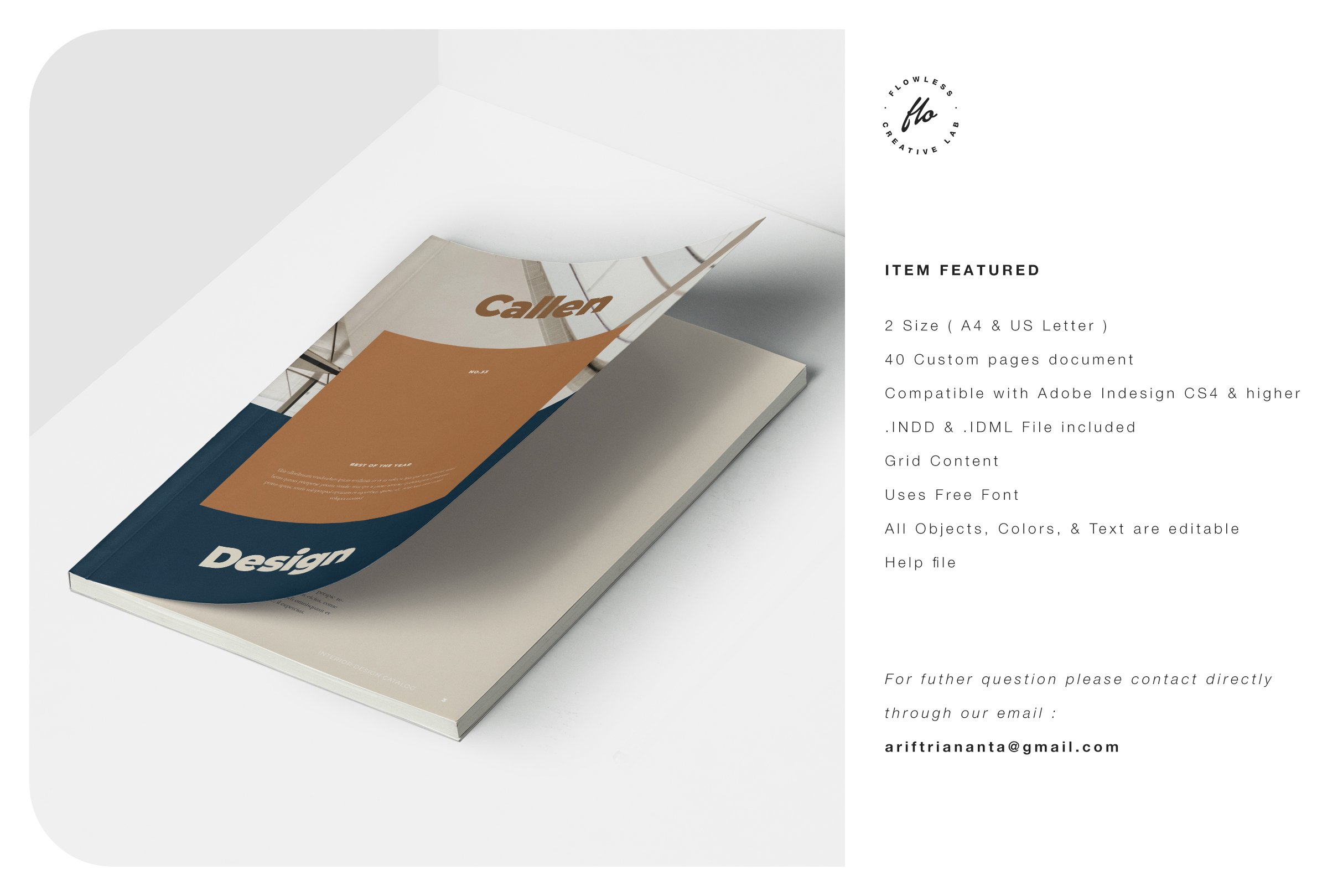 室内设计摄影作品集目录INDD画册模板 CALLEN Interior Design Catalog插图(5)
