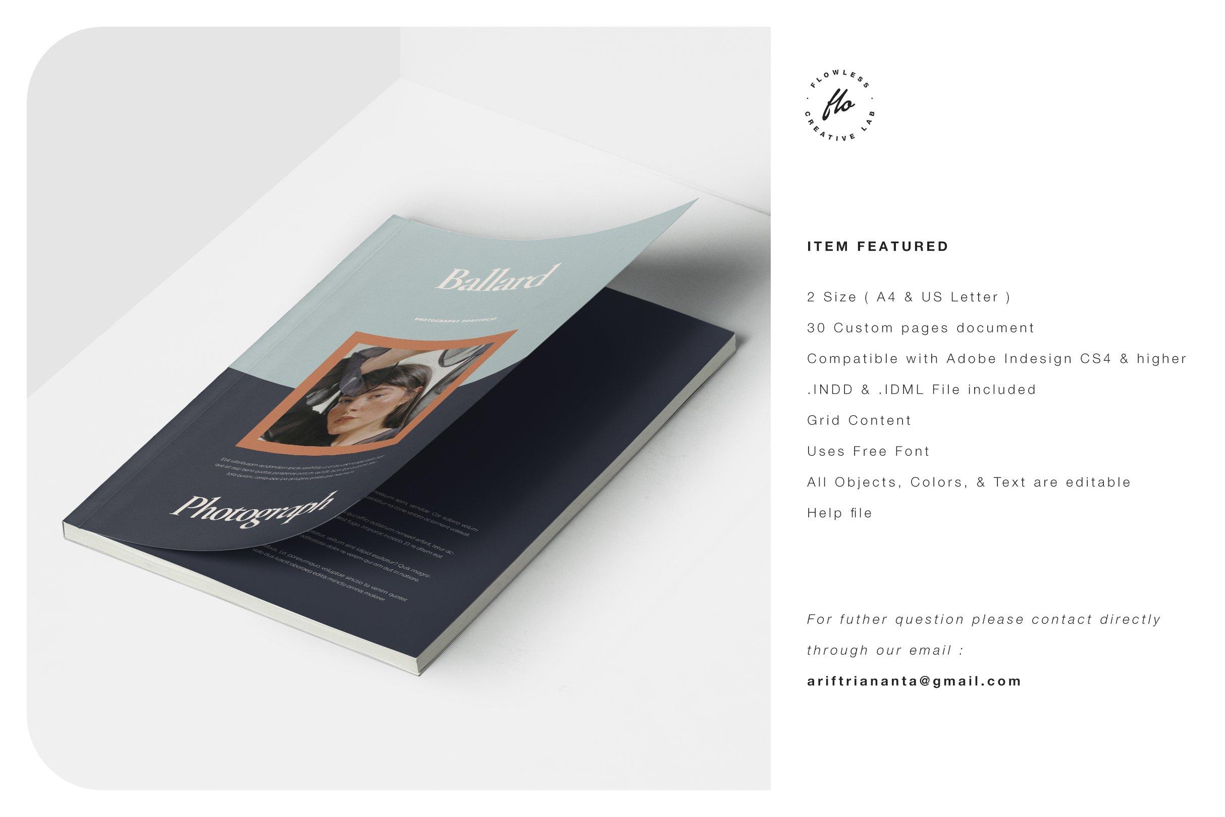 现代优雅摄影作品集图文排版设计INDD画册模板 BALLARD Photography Portfolio插图(5)