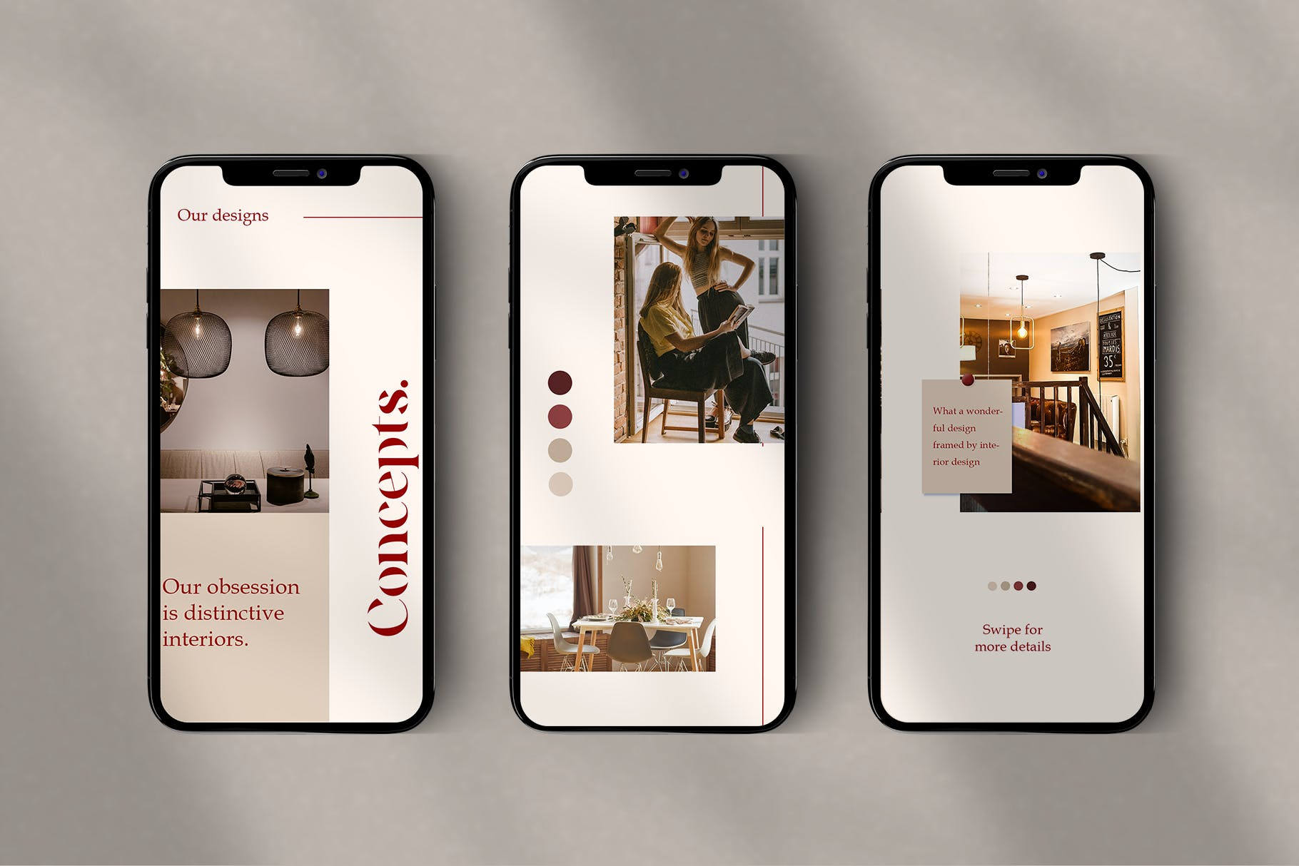 时尚室内设计摄影作品集推广新媒体电商海报模板 Walnut – Instagram Template插图(5)