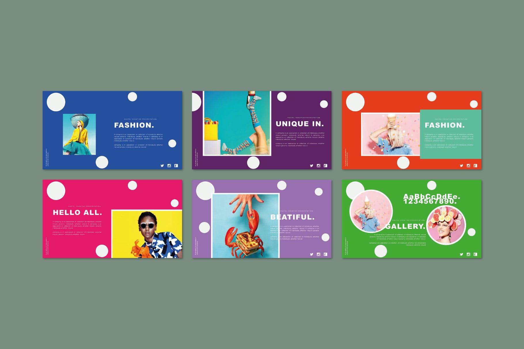 时尚多彩策划案图文排版设计演示文稿模板 Misya – Powerpoint Template插图(5)