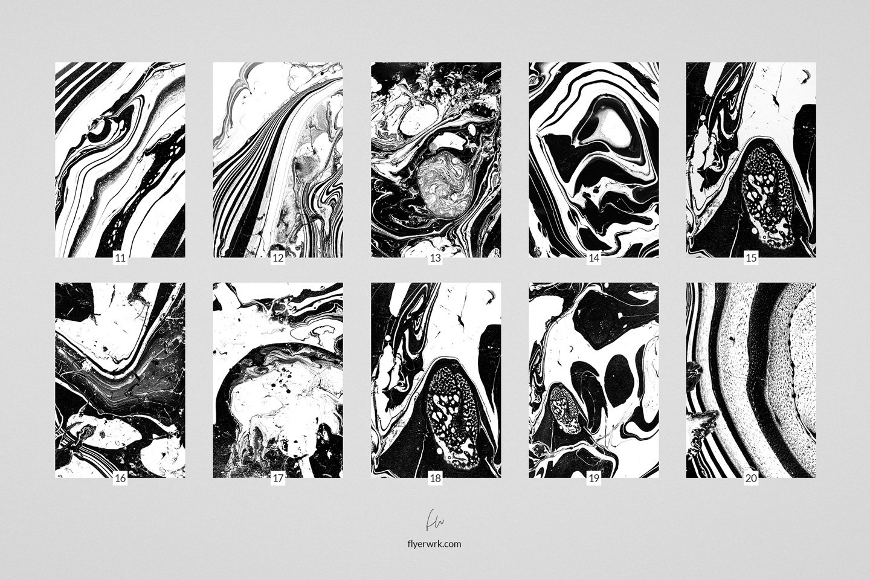 50款高清抽象大理石液体海报设计底纹背景图片素材 Marmor – 50 Abstract Marble textures插图(5)