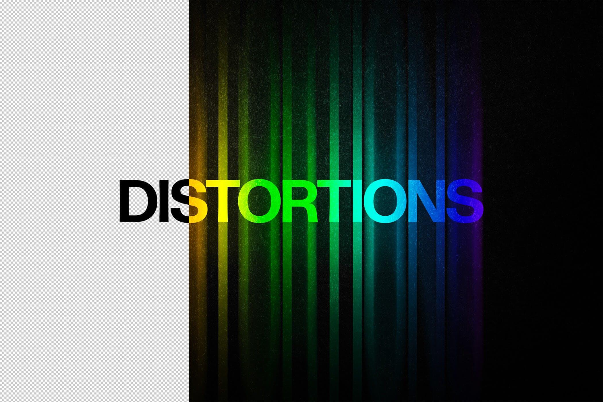 4款炫彩故障失真文字效果徽标标题设计PS素材源文件 Color Distortion Text Effect插图(5)