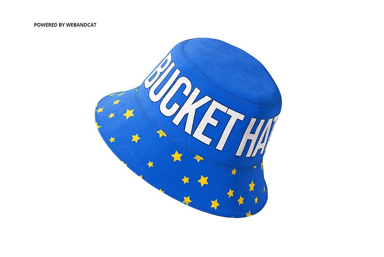 4款渔夫帽LOGO印花图案设计展示样机 Bucket Hat Mockup 2插图(5)